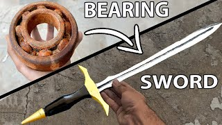Rusty Bearing Forged into a pretty & SHARP SWORD