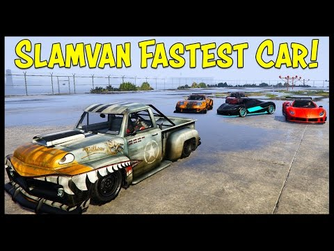 NEW FASTEST CAR IN GTA 5 ONLINE! Slamvan Custom Is Faster Than Super Cars!?