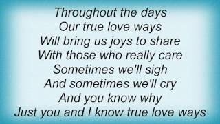 Aaron Watson - True Love Ways Lyrics
