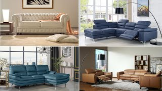 40+ Elegant Leather Sofa Designs 2020 | Unique Modern Leather Sofa Set Designs