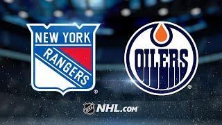 Georgiev Picks Up First Win As Rangers Top Oilers 3-2