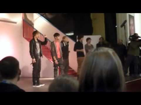 One Direction at Hall Cross School in Doncaster