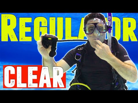 How to clear a diving regulator underwater
