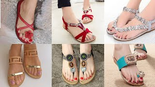 Stylish Flat #Sandals Collection #2020 | Trendy Flat Sandals | Latest Beautiful Flat Sandals Designs