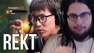 Imaqtpie - DESTROYING DOUBLELIFT (EMBARRASSINGLY ONE SIDED)