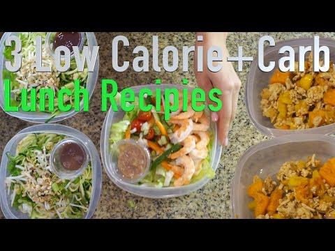 Video 3 Low Calorie and Low Carb Lunch Recipes