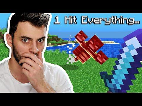 Minecraft Hardcore, But I Have Sharpness 1000