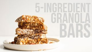 Healthy 5-Ingredient Granola Bars | Minimalist Baker Recipes