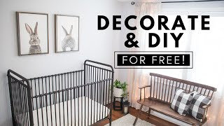 DECORATE AND DIY ANY ROOM FOR FREE   DIY NURSERY MAKEOVER ON A BUDGET