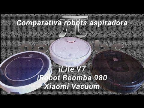 Comparativa robots aspiradores iLife V7 & Roomba 980 & Xiaomi Vacuum