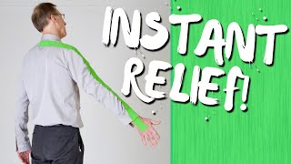 INSTANT RELIEF! How to Treat a Pinched Nerve. Physical Therapy Ex. And Tips