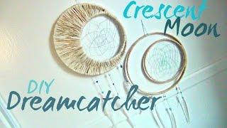 Crescent Moon Dreamcatcher ♥ DIY