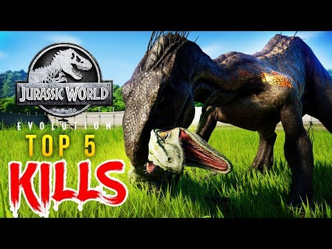 Top 5 BEST KILLS In Jurassic World: Evolution