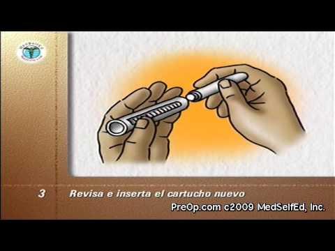 Poner correctamente la insulina de vídeo