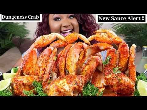 SEAFOOD BOIL MUKBANG , DUNGENESS CRAB LEGS + LAVA SAUCE