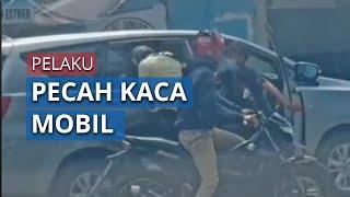 Viral Video Perampokan Pecah Kaca Mobil di Depok, Pelaku Sempat Dikejar Korban