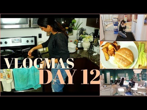 Cooking Chicken Burgers || Left Himmat at Daycare || VLOGMAS DAY 12