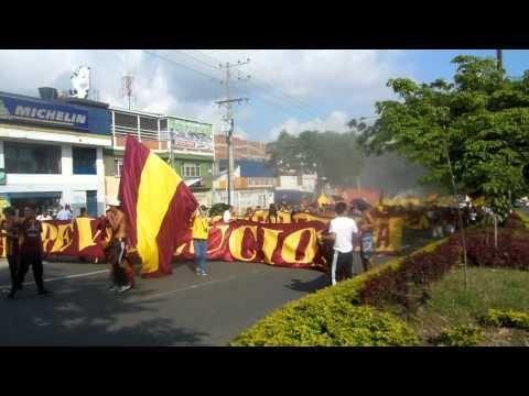 """""""Hinchas - Deportes Tolima"""" Barra: Revolución Vinotinto Sur • Club: Tolima"""