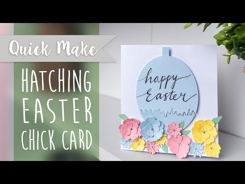 Hatching Easter Chick Card - Sizzix