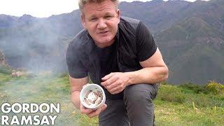 Gordon Ramsay Makes Scrambled Eggs With Worms In Peru | Scrambled