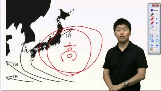 台風の進路についての話