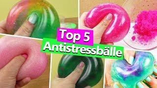 Top 5 Antistressbälle | DIY Slime | Schleim Antistressbälle | DIY Schleim Spaß zum selber machen