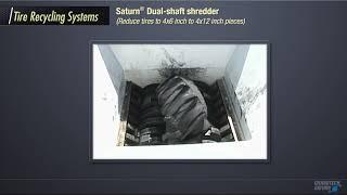 Saturn Dual Shaft Shredder - Tires