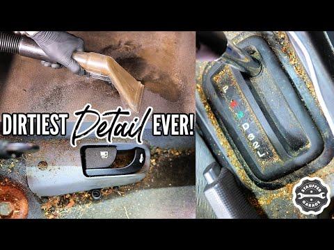 , title : 'Complete Disaster Full Interior Car Detailing Transformation! DEEP CLEANING The Nastiest Car Ever!'