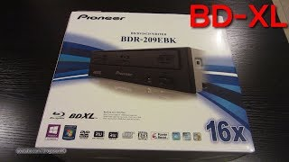 Pioneer BDR-209EBK - BDR-209M BDXL (BD-XL) Blu-ray burner unboxing and tests