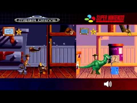 Toy Story | Mega Drive/Genesis & SNES - Comparison, Dual Longplay
