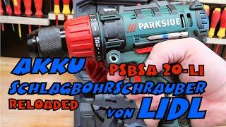 Im Einsatz: LIDL - PARKSIDE® 20V  2-Gang Akku Schlagbohrschrauber PSBSA 20-LI B2