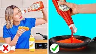 DICAS DE COMIDA PARA PREGUIÇOSOS || Dicas geniais de comida e truques divertidos e fáceis de repetir