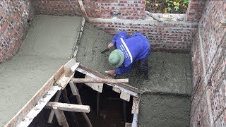 Intelligent Construction Concrete Stair In The House - Heavy Work Building House Step By Step