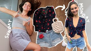 I PLANNED MY OUTFITS THE NIGHT BEFORE FOR A WEEK...and it changed my life!!