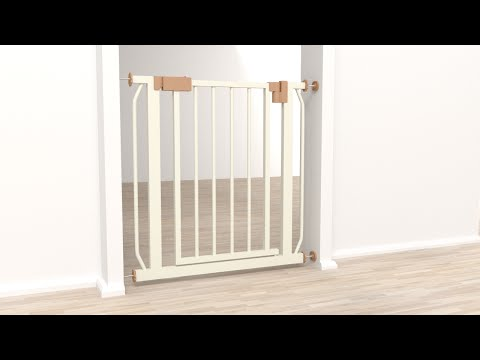 TecTake - Cancelletto di protezione ad incastro per porte e scale