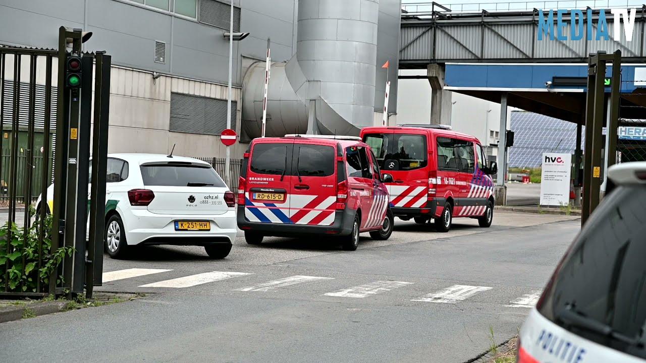 Grote brand bij afvalverwerker in Dordrecht