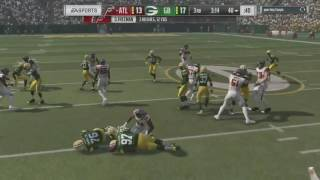 Facing TOP 200 Opponent who uses A VICIOUS blitz against me!Packers Vs. Falcons-Madden NFL 17