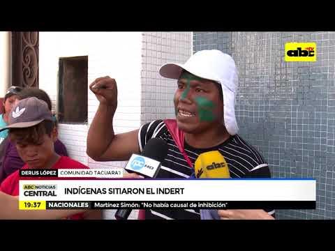 Indígenas sitian el INDERT