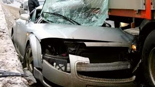Crazy AUDI Crash Compilation Part.3 - TT A4  A6 Q7 100 80 A3 RS Insane Street Accident