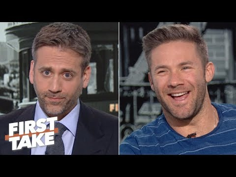 Julian Edelman denies Max's 'cliff theory' about Tom Brady: 'He's the GOAT'   First Take