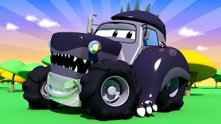 Ben is Godzila ! Tom the Tow Truck's Paint Shop - Car City ! Cars and Trucks Cartoon for kids