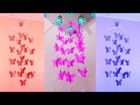Водопад из бабочек / Простой декор своими руками