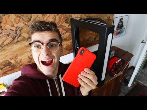 COVER PER IPHONE CON STAMPANTE 3D