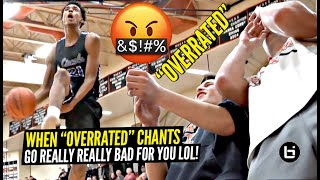 """Emoni Bates SILENCES """"OVERRATED"""" Chants In 50 Point WIN!!! Between The Legs!??"""