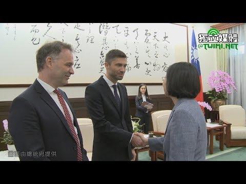蔡英文接見「歐洲經貿辦事處新任處長高哲夫」