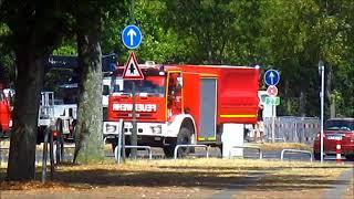 Brand am Messegelände - Betriebshof Gartenamt Düsseldorf