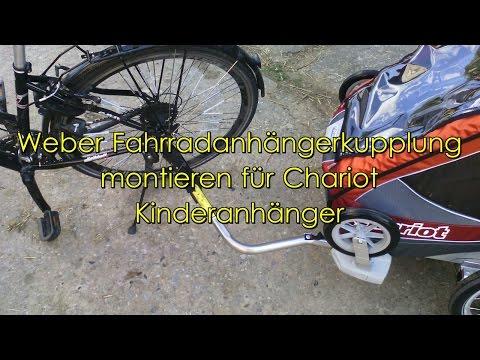 Montage Weber Fahrradset Anhängerkupplung an eine Festachse