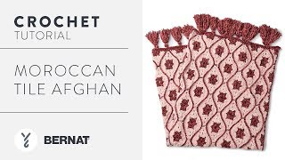 Crochet Blanket Pattern: Moroccan Tile Afghan Tutorial
