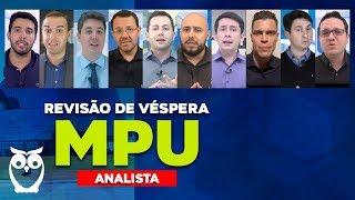 Revisão de Véspera MPU para Analista AO VIVO ÀS 8h30min
