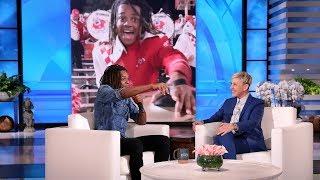 Ellen Surprises Viral College Cymbals Player